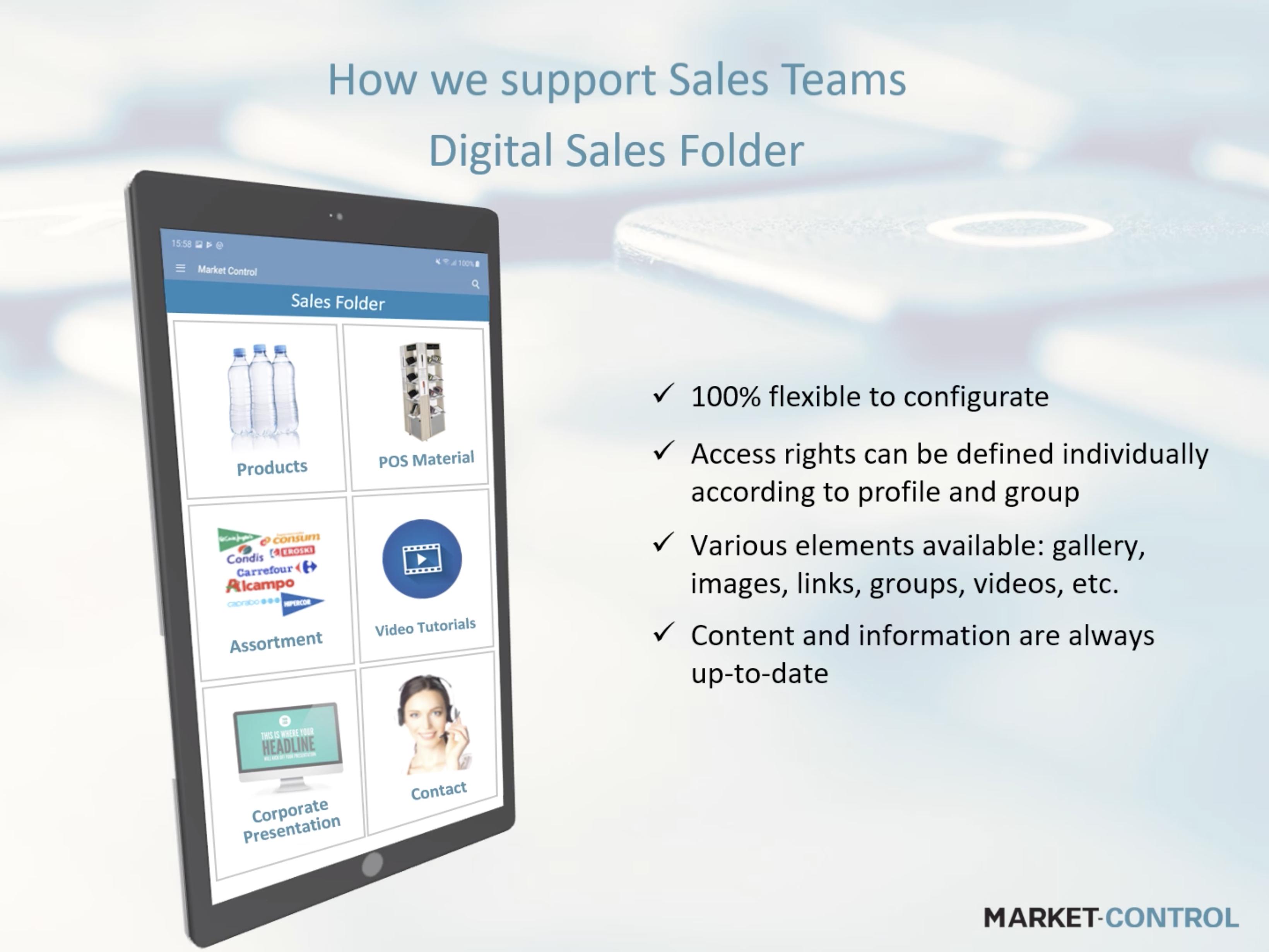 Cómo apoyamos a los equipos de ventas carpeta digital de ventas