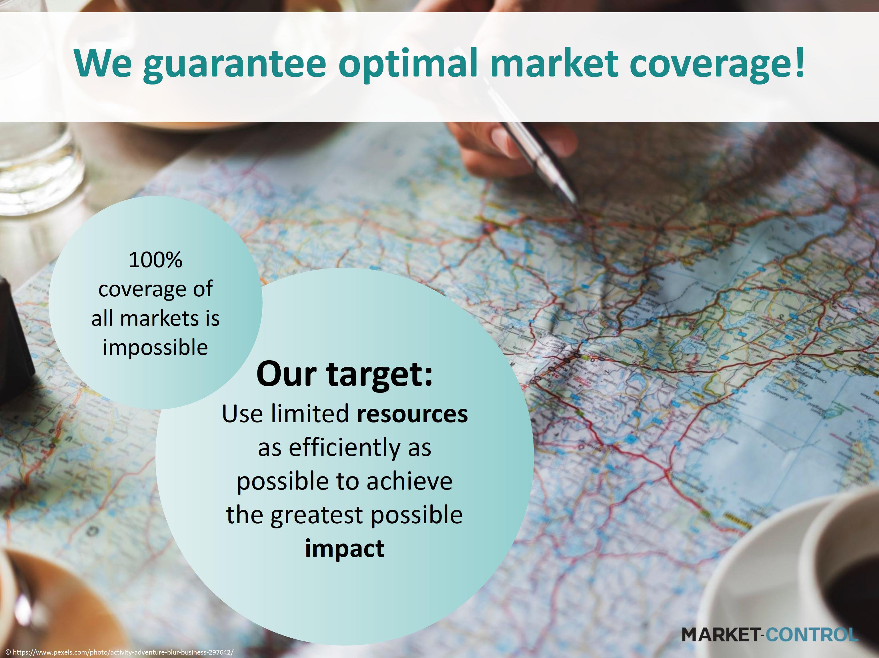 Garantizamos una cobertura óptima del mercado!