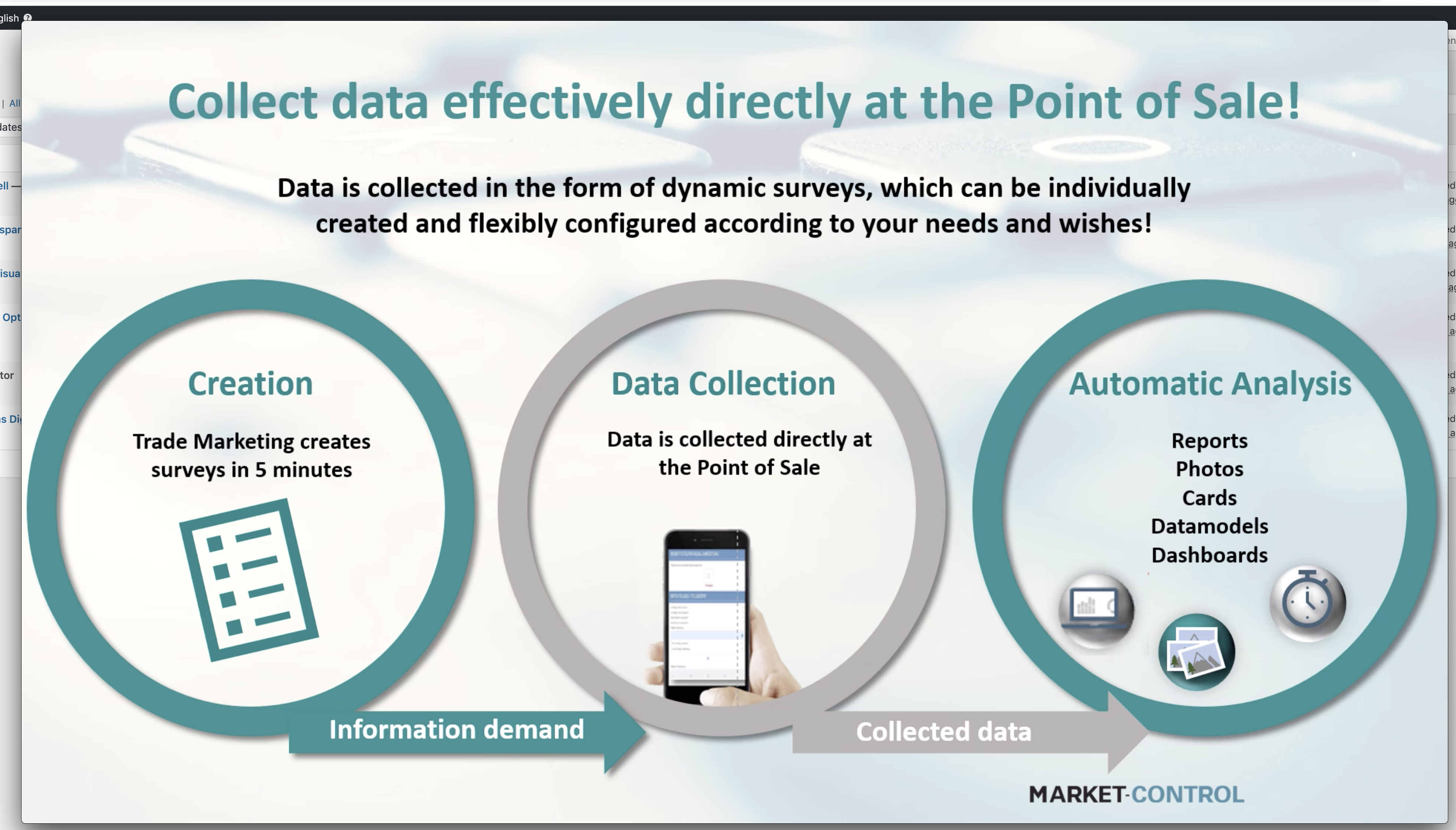 Collect data effectively directly at the point of sale!