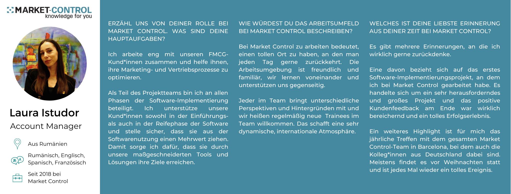 Das Market Control Team stellt sich vor