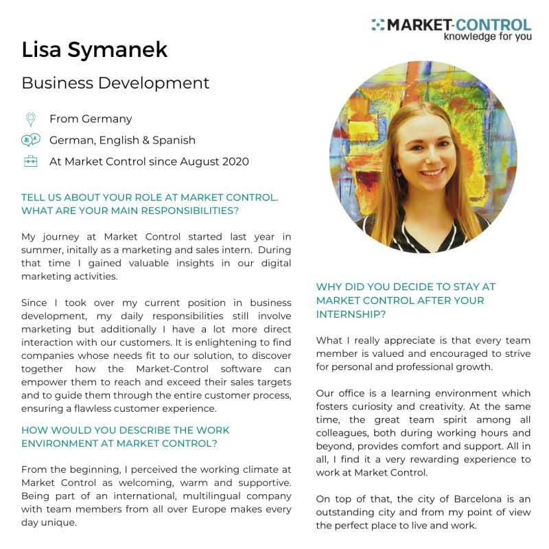 El equipo de Market Control
